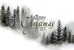Christmas Set Winter Forest Watercolor Christmas Designs Product Image 3