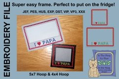 I Love Papa Picture Frames - 4 x 4 and 5 x 7 Hoops Product Image 3