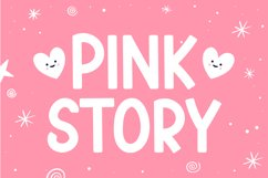 Pink Story - Cute Display Font Product Image 1