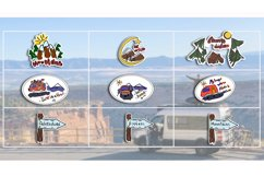 VanLife Graphic. 9 color illustration in doodle style Product Image 3