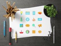 Marketing icons set, cartoon style Product Image 4