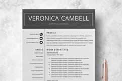 Resume | CV Template Cover Letter - Veronica Cambell Product Image 6