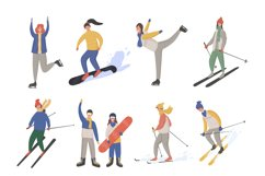 Winter sport people characters Product Image 2