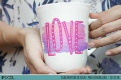 Love Letters Sublimation Design PNG Product Image 2