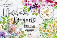 Watercolor Bouquet clipart Product Image 1