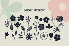 Hand Drawn Florals Procreate Stamp Brushes Product Image 2