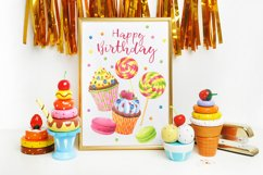 Happy Birthday hand painted watercolor collection Product Image 5