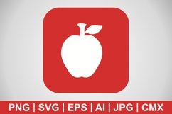Vector Apple Icon Product Image 1
