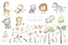 SAFARI ANIMALS. Watercolor set Product Image 2