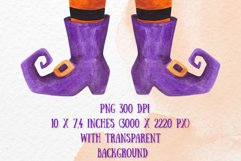 Witch legs clipart Watercolor Halloween witch feet clipart Product Image 2