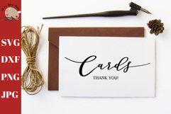 Wedding Cards Thank You Sign Print SVG, wedding card box svg Product Image 1
