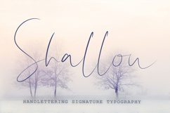 Shallou - Hand Lettering Font, Modern Calligraphy Product Image 1