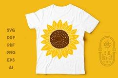 Sunflower SVG & Sunflower Monogram Frame SVG Cut Files Product Image 4