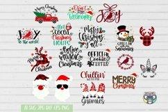 Christmas svg, Santa svg, Red Cardinal, Gnomes svg, Reindeer Product Image 3