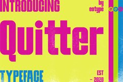 Quitter Bold Typeface Product Image 1