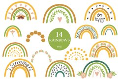Rainbow clipart BEES and BOTANICALS Product Image 1