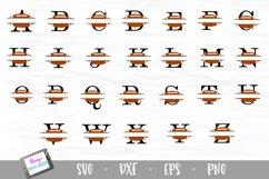 Split Letters A-Z - 26 Split Monogram Football SVG alphabet Product Image 2