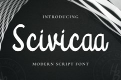 Scivicaa Font Product Image 1