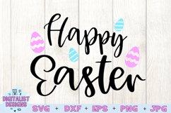 happy easter svg, easter egg svg, easter decor svg Product Image 3
