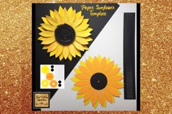 Paper Sunflower Template Svg Cut File Paper Flower print Product Image 4