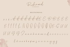 Richmond | Calligraphy Font Product Image 6