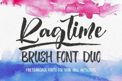 Ragtime - Brush Font Duo Product Image 1
