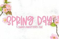 Web Font Spring Day - A Quirky Handlettered Font Product Image 1