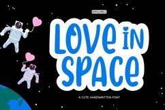 Love In Space - A Cute Handwritten Font Product Image 1