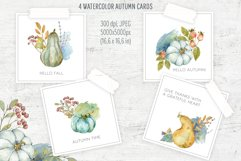 Hello Autumn. Watercolor arrangments and cards Product Image 3