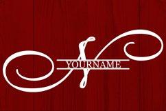 N Split monogram SVG Split letter svg Monogram font Product Image 4