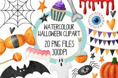 Watercolor Halloween Clip Art Set 1 Product Image 1