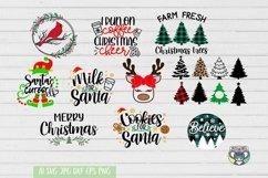 Christmas svg, Santa svg, Red Cardinal, Gnomes svg, Reindeer Product Image 4