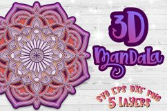 3D Mandala svg bundle Papercut SVG Zentangle Product Image 3