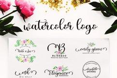 Watercolor Logo Kit 8 Fonts! Product Image 6