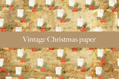 Vintage Christmas digital paper pattern Product Image 5