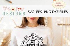 EKG tech mandala, SVG mandala Product Image 2