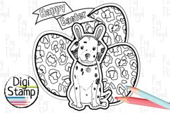 Easter Clipart, Eggs Clipart, Bunny, Puppy, Dalmatia Product Image 4