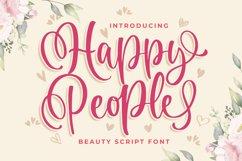 Happy People Beauty Script Font Product Image 1