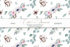 Cotton & Anemones Seamless Patterns Product Image 12