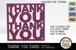 Thank You Card SVG - Thanks Card Cutting File, DXF, PNG, EPS Product Image 2
