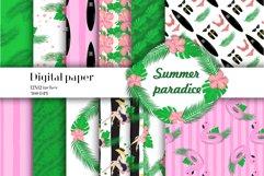 Summer paradise digital paper Product Image 1