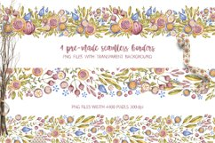 Cute owls clipart. Watercolor collection with floral forest Product Image 6