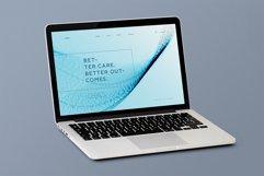 Blue Wavy Backgrounds and Bonus - Web Headers Product Image 6
