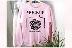 Gildan 18000 Sweatshirt Mockup Light Pink Product Image 1