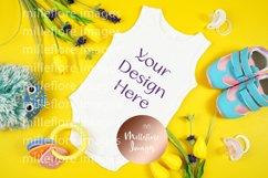 Baby Wear Onesie Bodysuit Bib Mockup Styled Photo Bundle Product Image 6