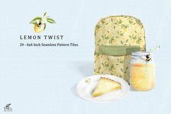 Lemon Fruit Seamless Pattern Tiles 6 x 6 Inches. Product Image 6