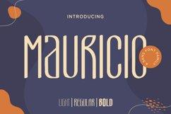 Mauricio - A Sans Font Family Product Image 1