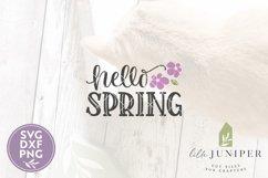 Hello Spring SVG, Spring Sign SVG Product Image 2