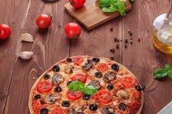 Bundle of six photos of traditional Italian vegetarian pizza Product Image 5