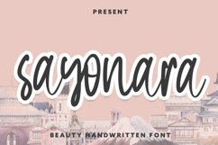 Sayonara - Beauty Handwritten Font Product Image 1